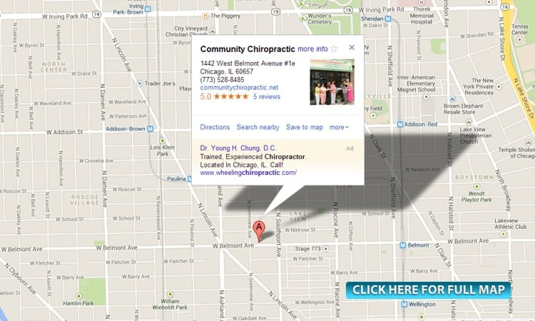 Chicago chiropractic map